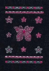 Bilde av GLAM ROCKS stickers Sommerfugler, 1 ark (10 pakk)
