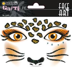 Bilde av FACE ART Sticker Leopard til ansiktet, 1 ark (5
