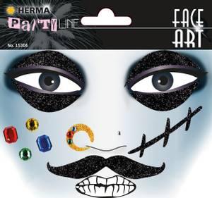 Bilde av FACE ART Sticker Pirat til ansiktet, 1 ark (5