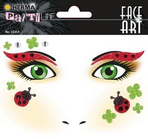 Bilde av FACE ART Sticker Ladybug til ansiktet, 1 ark (5