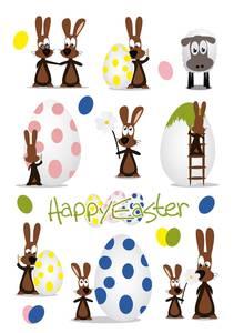 Bilde av DECOR Stickers Happy Easter Hareparty, 3 ark (10