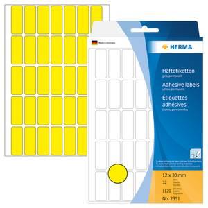 Bilde av HERMA fargede etiketter, gul 12x30 mm (1120 stk)