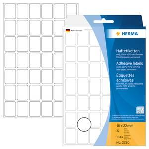 Bilde av HERMA standardetiketter, hvit 16x22 mm (1344 stk)