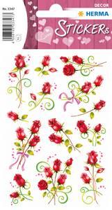 Bilde av DECOR Stickers Roser, glansfolie, 2 ark (10 pakk)