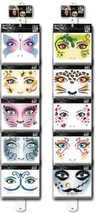 Bilde av Display FACE ART til vegg, 10 motiver, 50