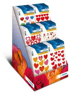 Bilde av Display In Love, DECOR Stickers 6 motiver, 60 stk