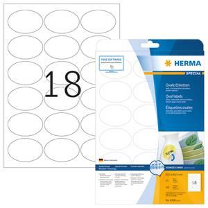 Bilde av MOVABLES avtagbar etiketter oval, 25 ark