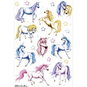 Bilde av DECOR Stickers Hvite hester, glitter 2 ark (10