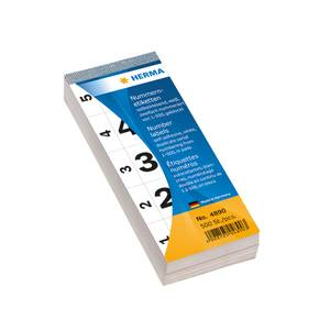 Bilde av Nummerblokk 28x56 mm, dobbel, 1-500 hvit 100 ark,