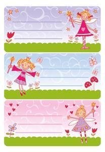Bilde av VARIO boketiketter Prinsesse glitter 2 ark pr.