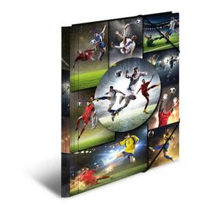 Bilde av HERMA strikkmappe i plastmateriale, A4, Fotball